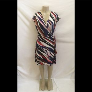 NWT Vince Camuto Size XL Multicolor Wrap Dress
